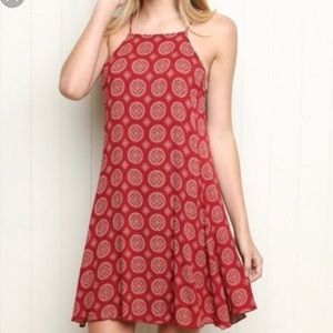 Brandy Melville red Abigail mandala dress NWT